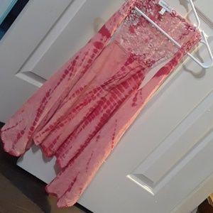 The dye hippie boho vest